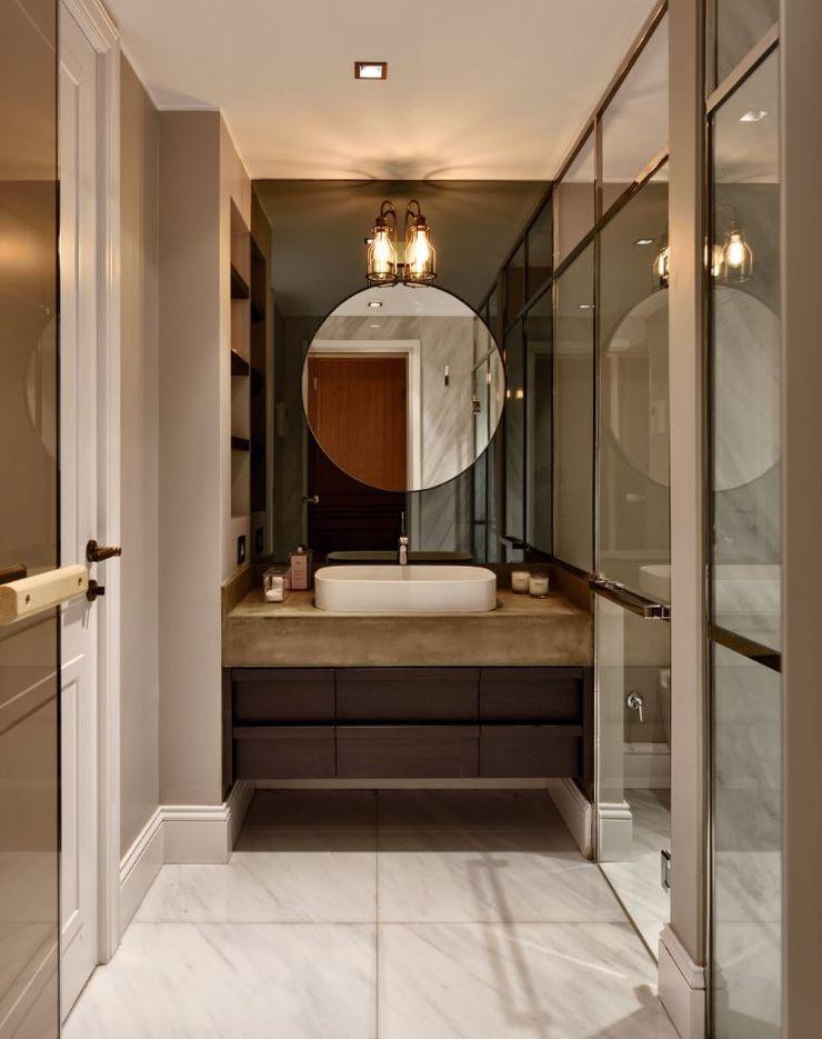 ABA HOUSE Esra Kazmirci Mimarlik Modern bathroom Marble Green