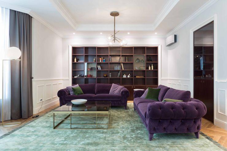 Private Villa MD Wisp Architects SoggiornoDivani & Poltrone Viola/Ciclamino