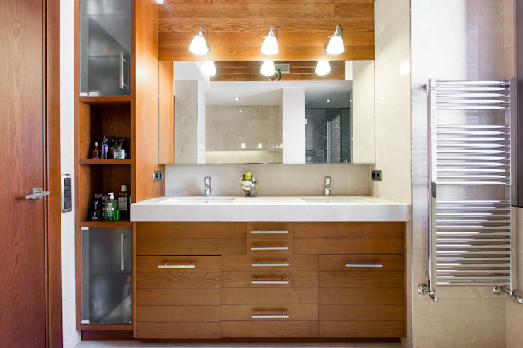 Decara Moderne Badezimmer Holz Braun