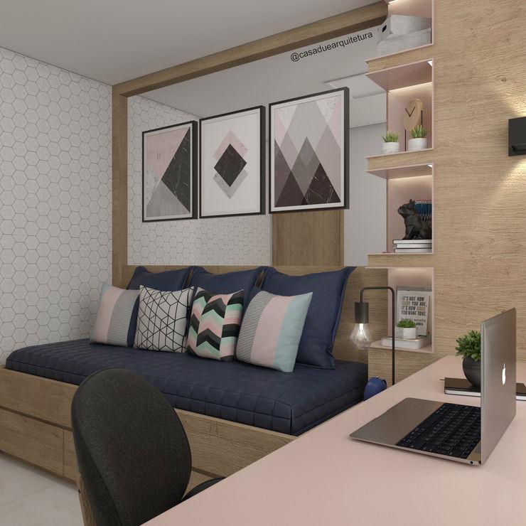 CASA DUE ARQUITETURA Modern study/office