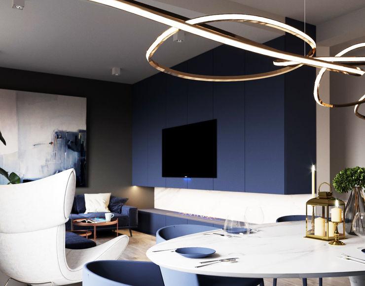 Ale design Grzegorz Grzywacz Minimalist living room Blue