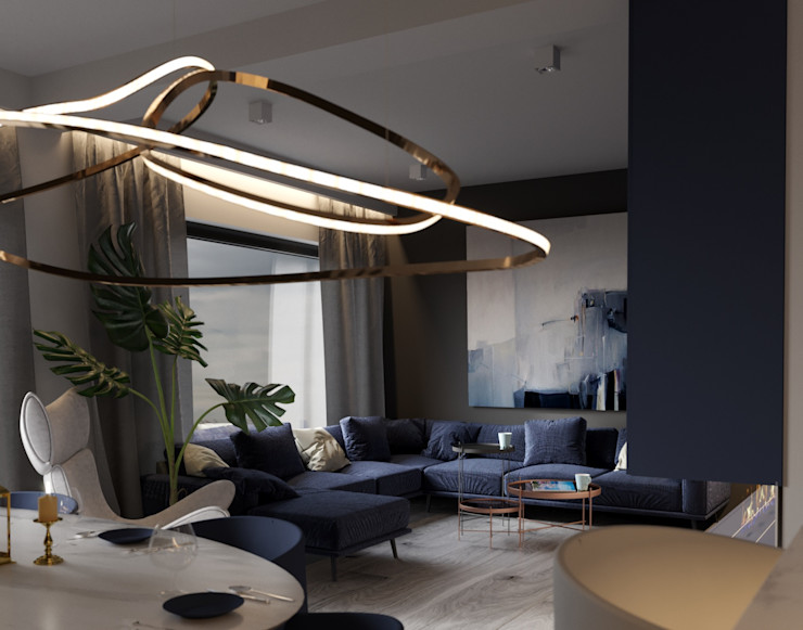 Ale design Grzegorz Grzywacz Scandinavian style living room White