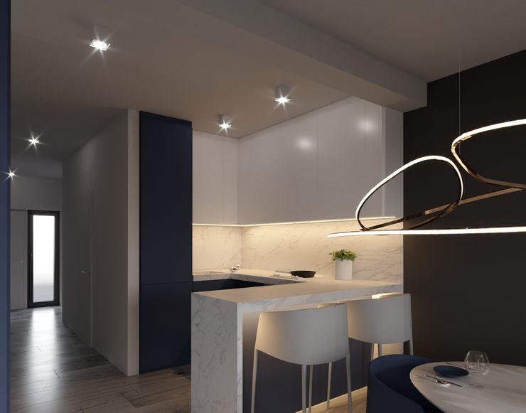 Ale design Grzegorz Grzywacz Built-in kitchens Blue