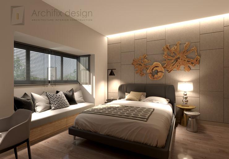 Công Ty TNHH Archifix Design モダンスタイルの寝室
