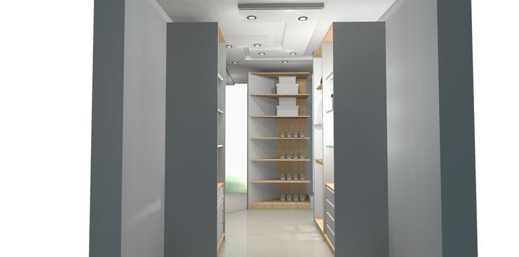 CLOSETS Francis estilo Closets de estilo clásico Blanco