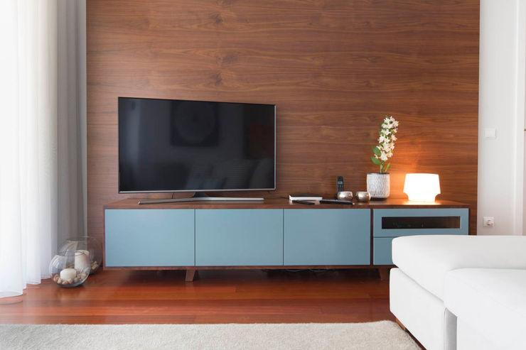Apartamento Nórdico - T3 Condomínio Imoloc - MATOSINHOS ShiStudio Interior Design Sala de estarAcessórios e Decoração