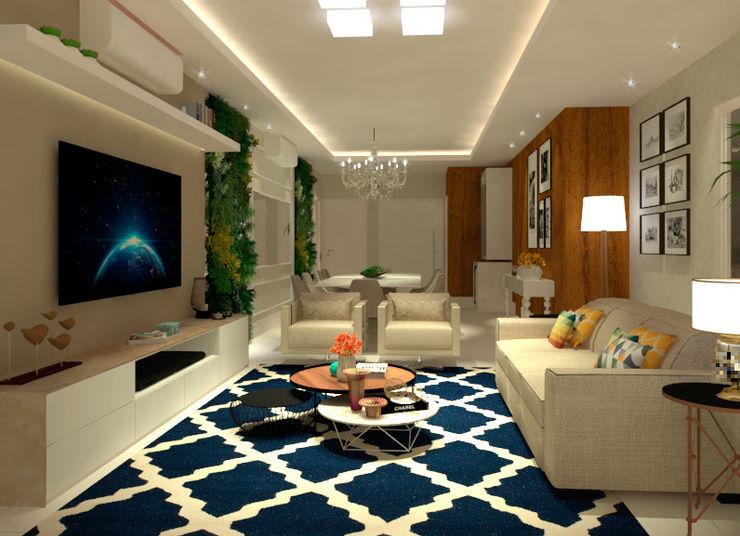 Sala de estar e jantar homify Salas de estar modernas