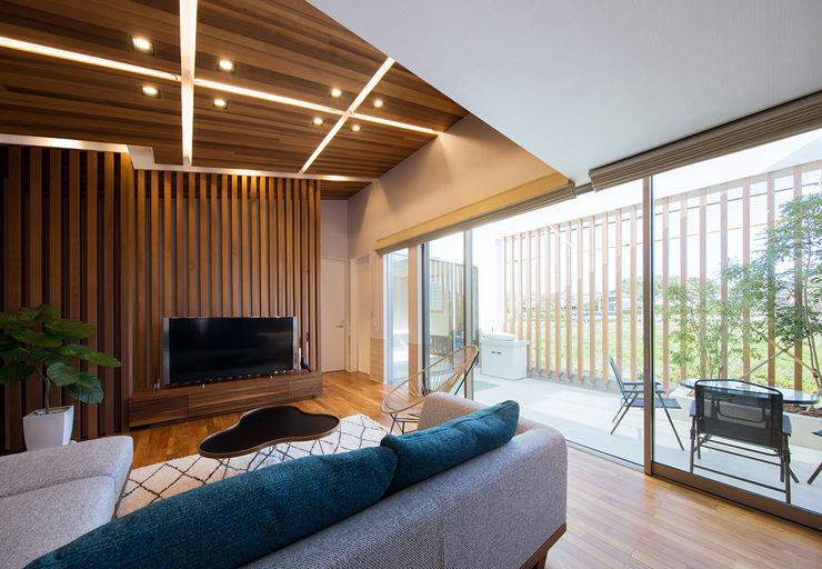 Architect Show Co.,Ltd 现代客厅設計點子、靈感 & 圖片