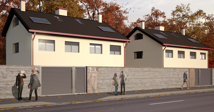 Vista exterior 2 A3D INFOGRAFIA Casas de estilo moderno