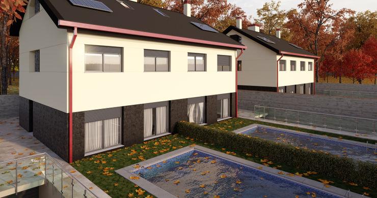 Vista interior A3D INFOGRAFIA Casas de estilo moderno