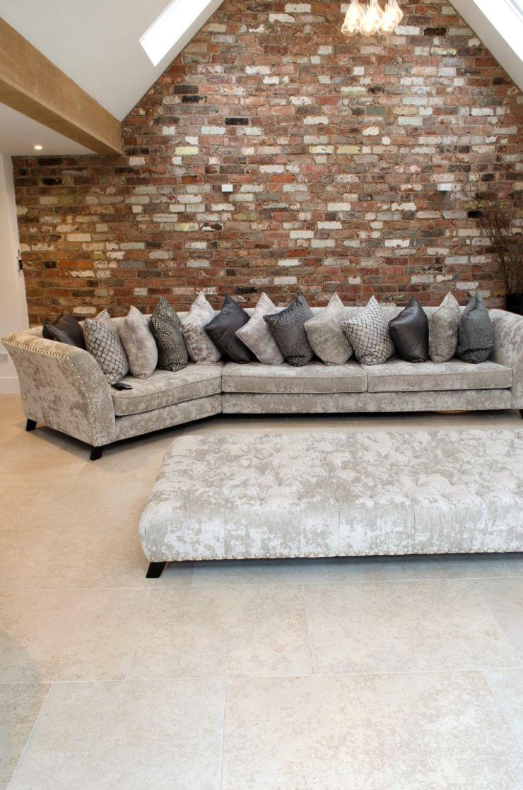 Contempoary Home: Florence Limestone Quorn Stone Modern Living Room Limestone