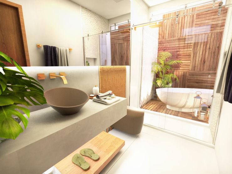 Casa de Praia Daniela Andrade Arquitetura Banheiros modernos
