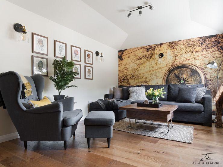 GUEST HOUSE Zeta Interiors Salones de estilo moderno
