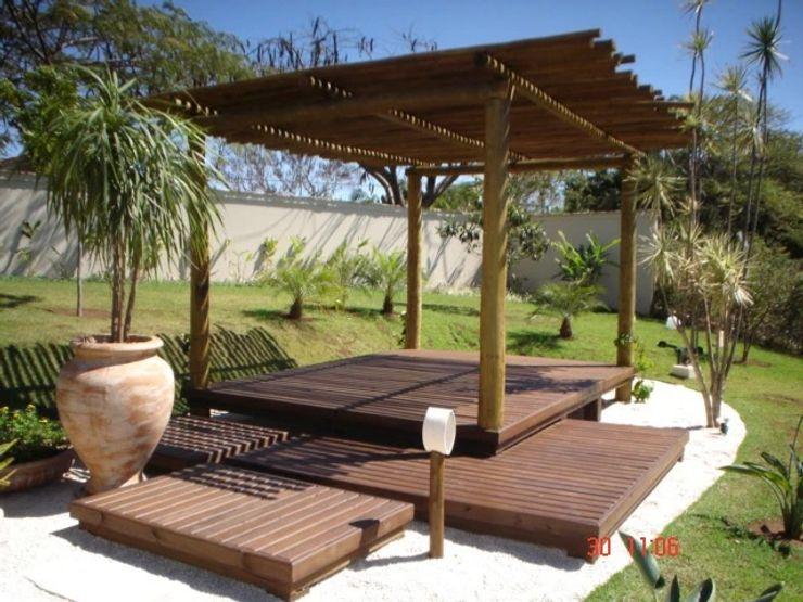 Tropical Ambientes e Lazer Балкони, веранди & тераси Аксесуари та прикраси Дерево-пластичний композит Бежевий