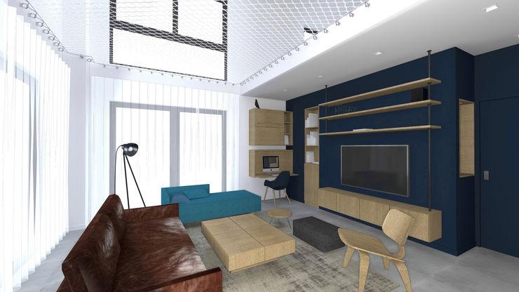 Vue sur salon. Lionel CERTIER - Architecture d'intérieur Salon original