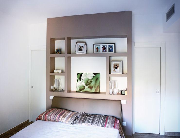 Camera da letto matrimoniale con cabina armadio 3d-arch Camera da letto moderna