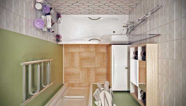 Дружба поколений CO:interior Ванная комната в эклектичном стиле Эффект древесины