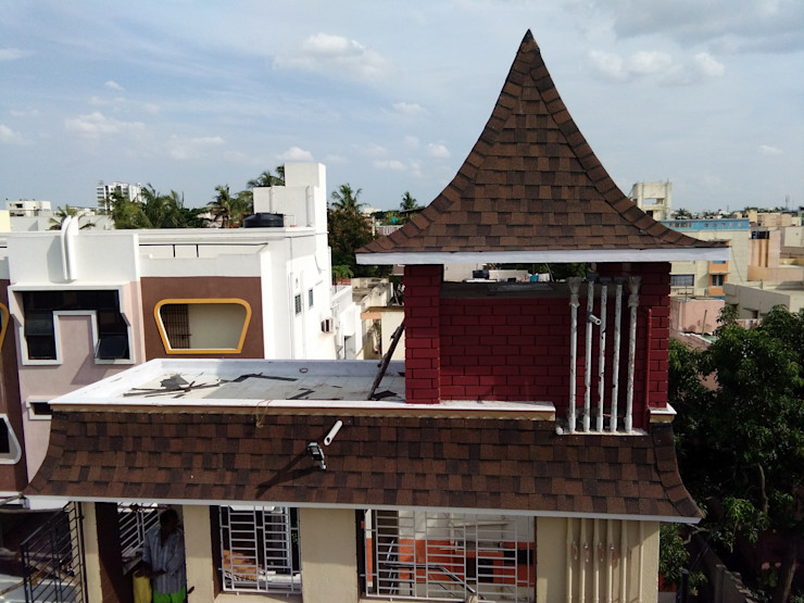Burnt sienna color Sri Sai Architectural Products Roof