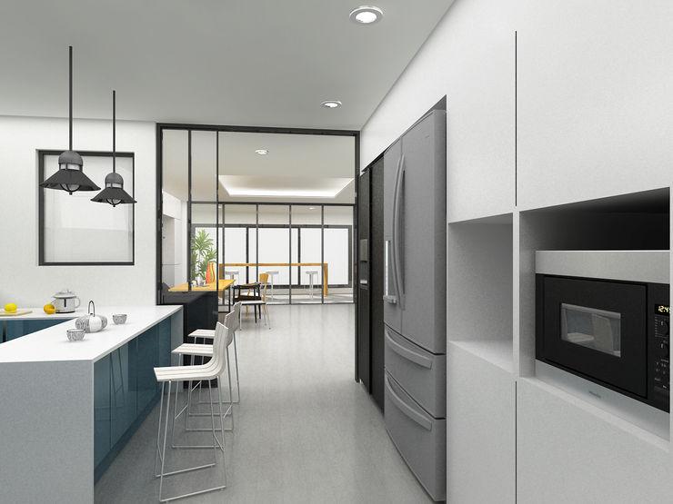 Korea - Apartment Interior Design Yunhee Choe Modern dining room White