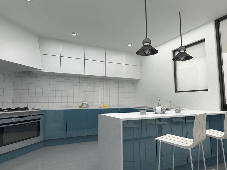 Korea - Apartment Interior Design Yunhee Choe Modern dining room Blue