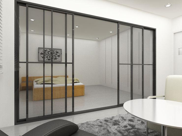 Korea - Apartment Interior Design Yunhee Choe Modern style bedroom White