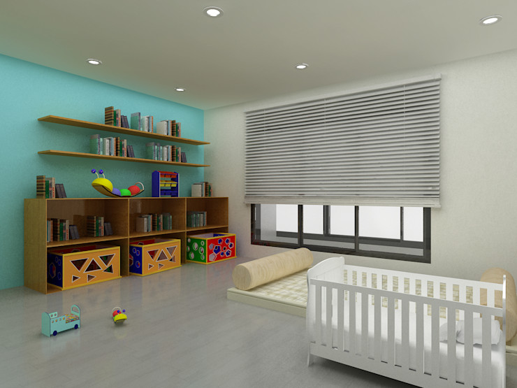 Korea - Apartment Interior Design Yunhee Choe Teen bedroom Blue