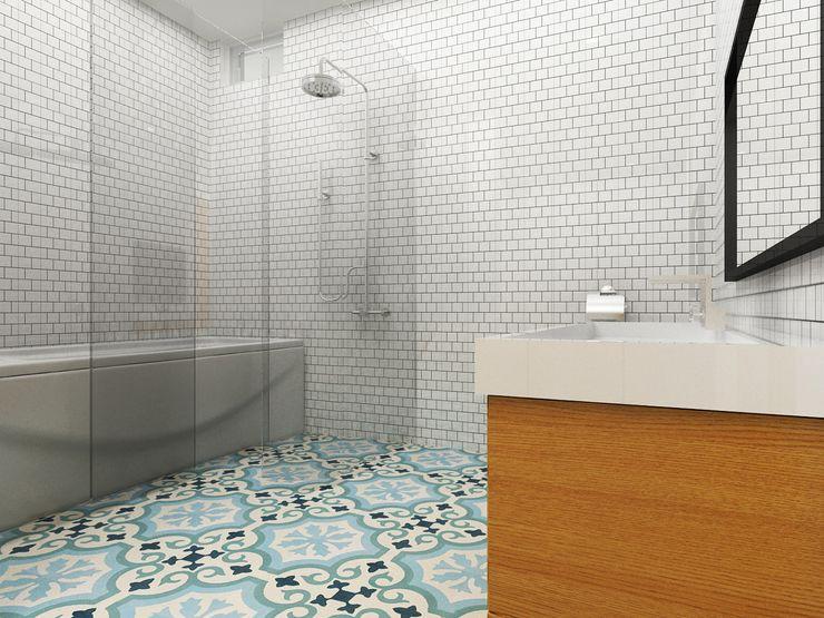 Korea - Apartment Interior Design Yunhee Choe Modern style bathrooms Blue