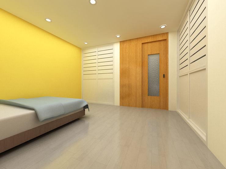 Korea - Apartment Interior Design Yunhee Choe Modern style bedroom Yellow