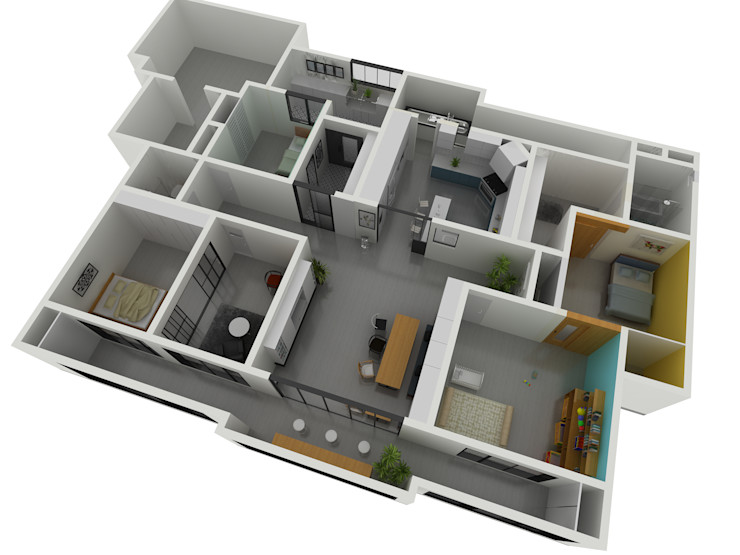 Korea - Apartment Interior Design Yunhee Choe Living room White