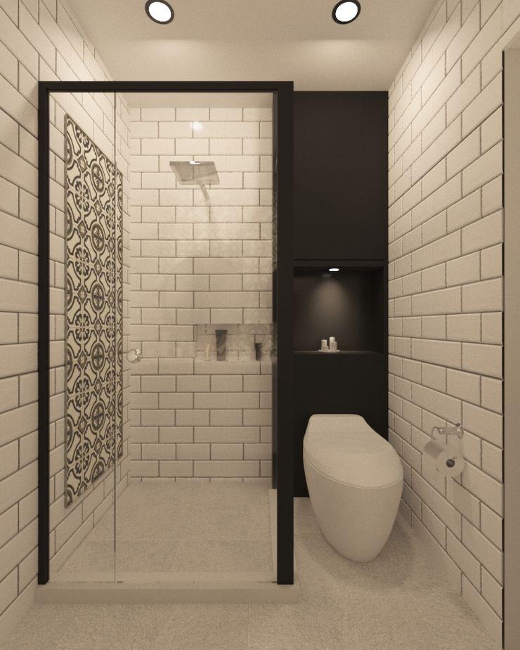 Noff Design Modern bathroom Ceramic White