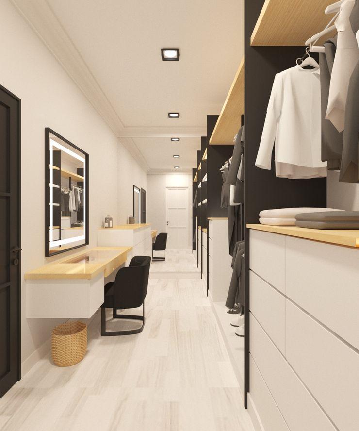 Noff Design Scandinavian style dressing room Engineered Wood Wood effect