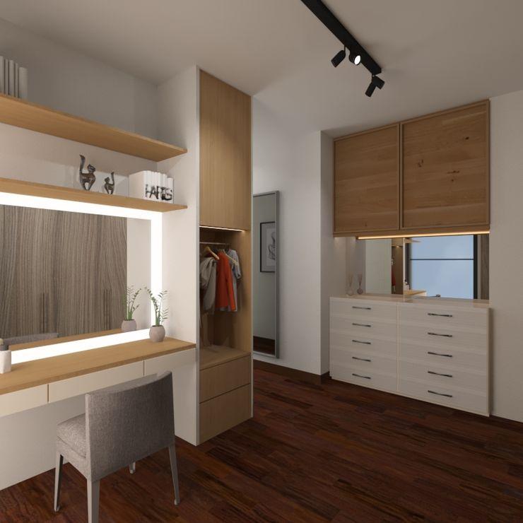 Noff Design Modern dressing room Plywood Wood effect