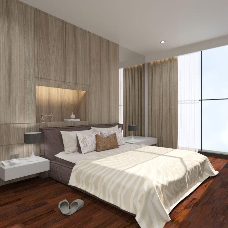 Noff Design Modern style bedroom Plywood Wood effect