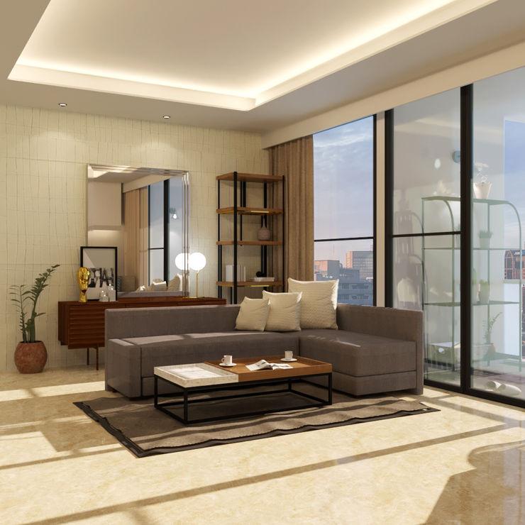 Noff Design Modern living room Wood Wood effect