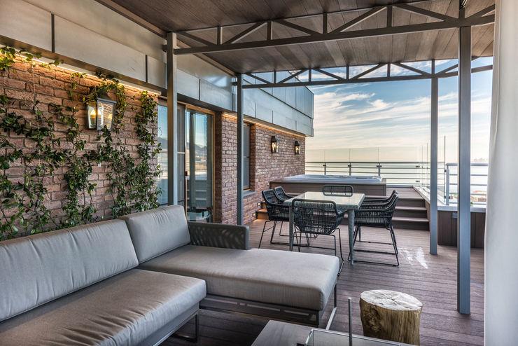 Лофт GraniStudio Балкон и веранда в стиле лофт