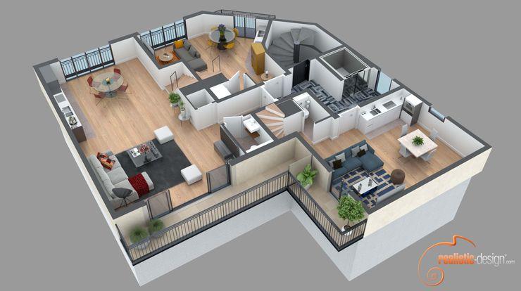 Plano de corte 3D Realistic-design