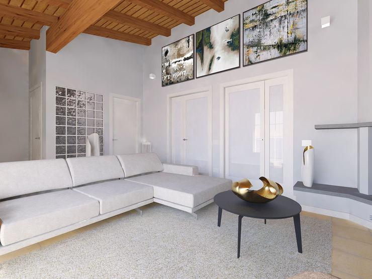 Flavia Benigni Architetto Living room Grey