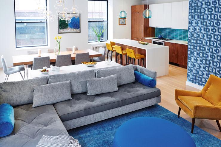 Tribeca Apartment Sarah Jefferys Design Modern Dining Room