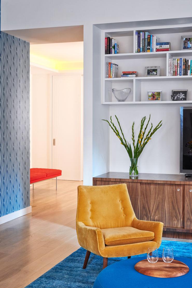 Tribeca Apartment Sarah Jefferys Design Modern Corridor, Hallway and Staircase