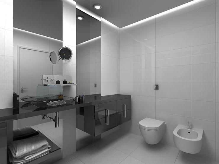 Grupo DH arquitetura Ванна кімнатаПрикраса Сірий