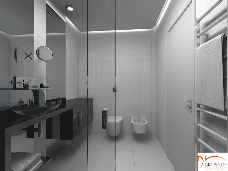 Grupo DH arquitetura Ванна кімнатаСидіння Білий