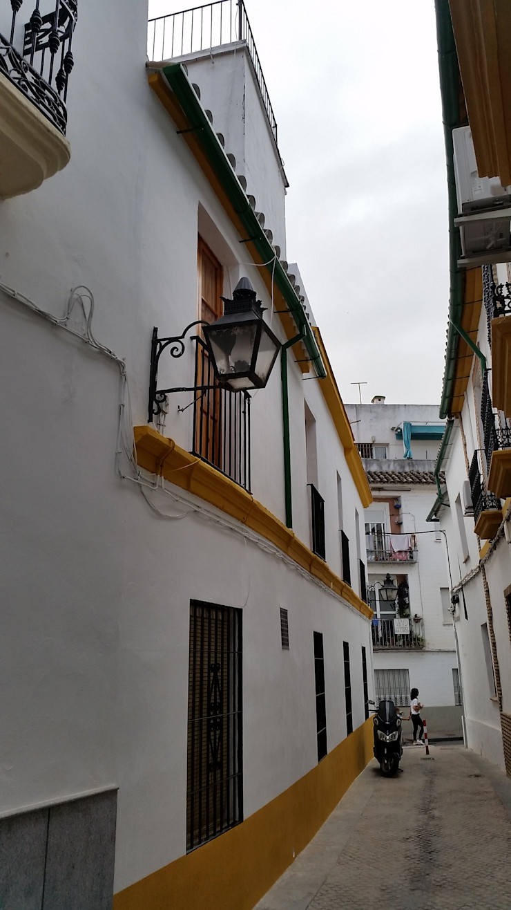 Estado rehabilitado. Fachada Calle Gragea Mohedano Estudio de Arquitectura S.L.P.