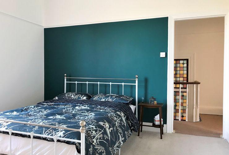 Master bedroom home decorators Paintforme Kamar Tidur Klasik Turquoise