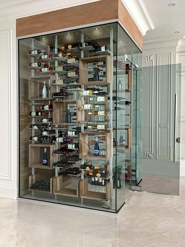 Millesime Wine Racks Adegas modernas Alumínio/Zinco Metalizado/Prateado