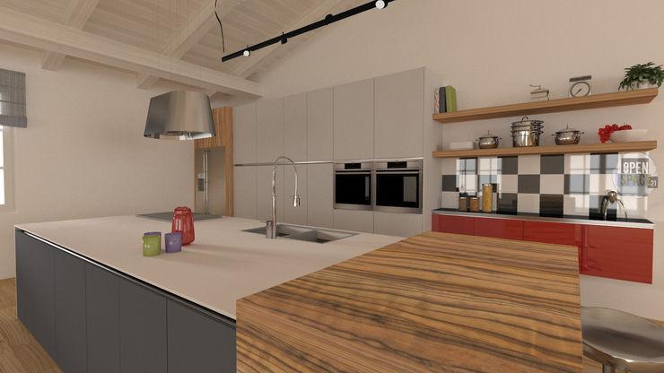 La Cucina ad Isola dell'OpenSpace21 serenascaioli_progettidinterni Cucina attrezzata