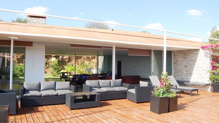 Terrasse TAG Balcon, Veranda & Terrasse minimalistes Bois