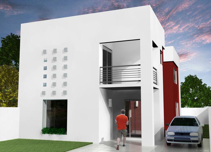 Grupo DH arquitetura Терасовий будинок Білий