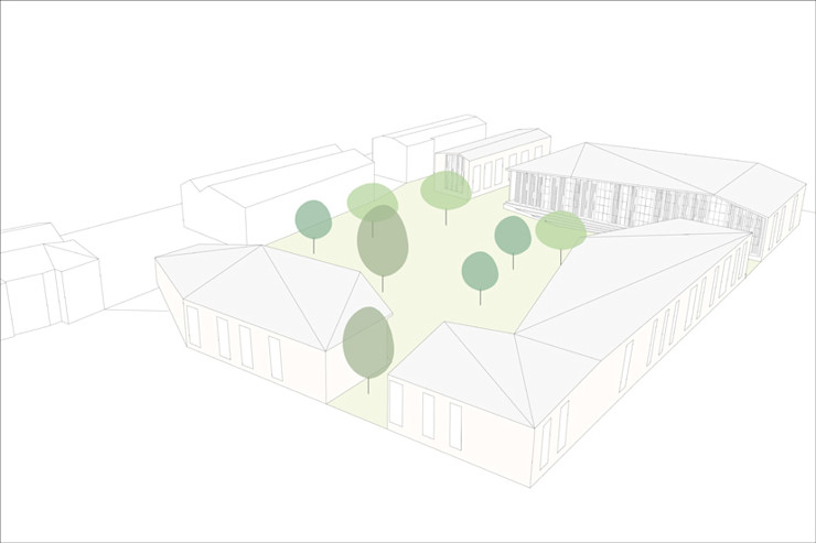 La corte del benessere atelier architettura Giardino moderno