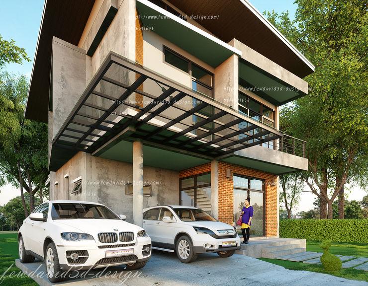บ้านโมเดิร์นลอฟต์ 4ห้องนอน3ห้องน้ำ fewdavid3d-design บ้านและที่อยู่อาศัย