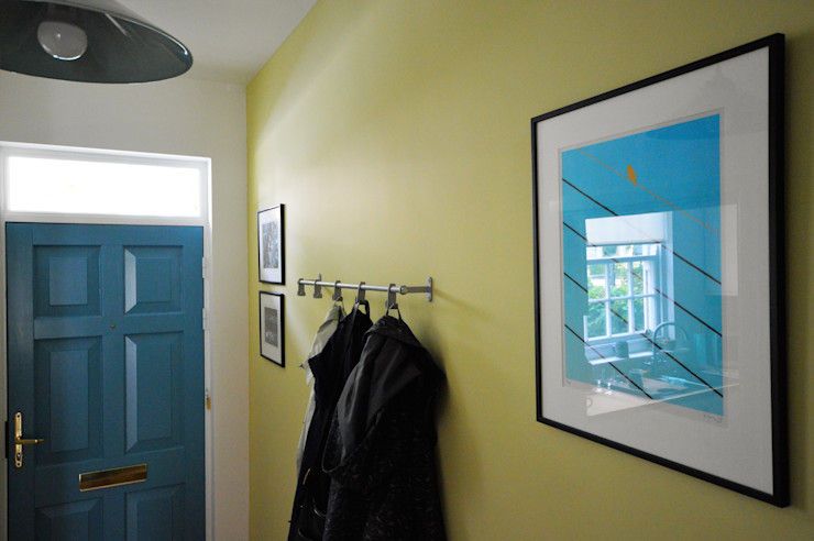 Painting and decorating Royal Arsenal, London Paintforme Modern corridor, hallway & stairs Green